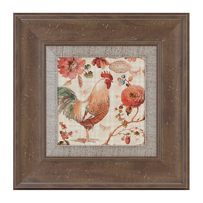 French Rooster I Framed Art Print
