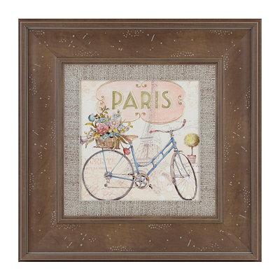 Paris Bicycle II Framed Art Print