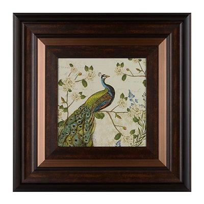 Floral Peacock II Framed Art Print