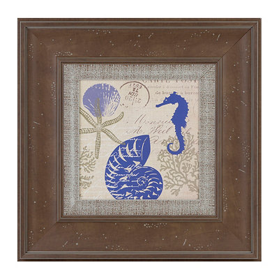 Sea Collage I Framed Art Print