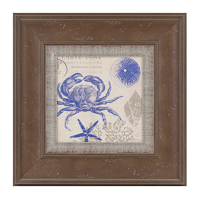 Sea Collage II Framed Art Print