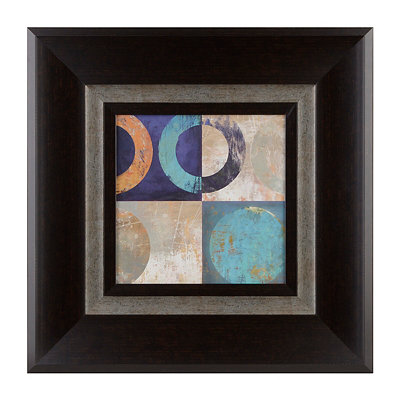 Abstract Circles I Framed Art Print