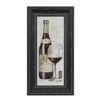 Red Wine Sketch Framed Art Print