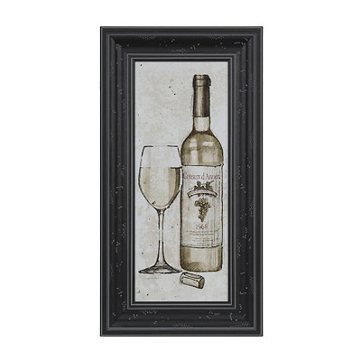 White Wine Sketch Framed Art Print