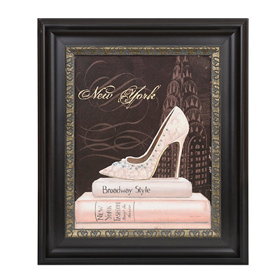 New York Fashion Framed Art Print