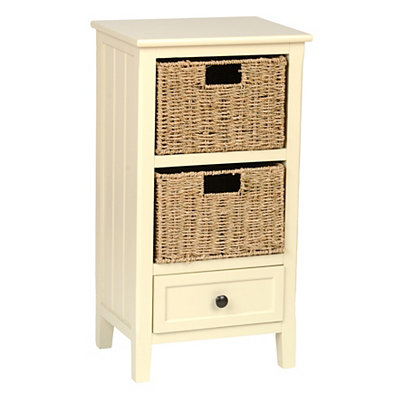 Cream Beadboard 3-Drawer Storage Chest