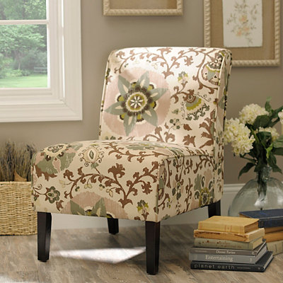 Bohemian Floral Slipper Chair