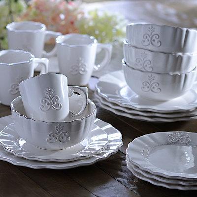 Bianca White Fleur Dinnerware Set