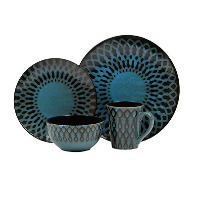 Sicily Blue Round 16-pc. Dinnerware Set