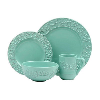 Waverly Savoy Teal 16-pc. Dinnerware Set