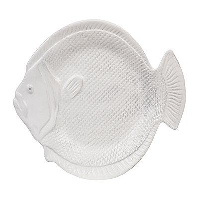 Round White Fish Platter