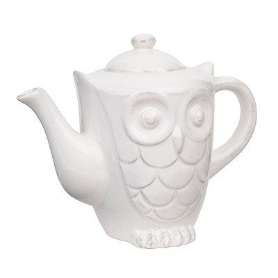 White Owl Teapot