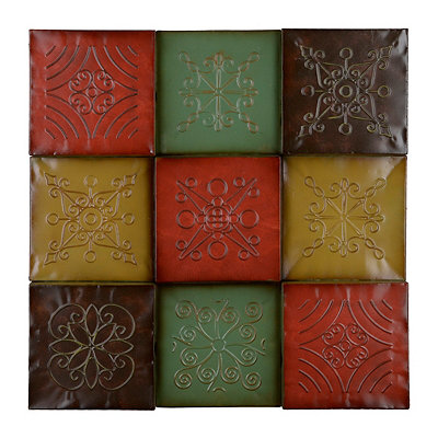 Monterrey Embossed Squares Metal Plaque