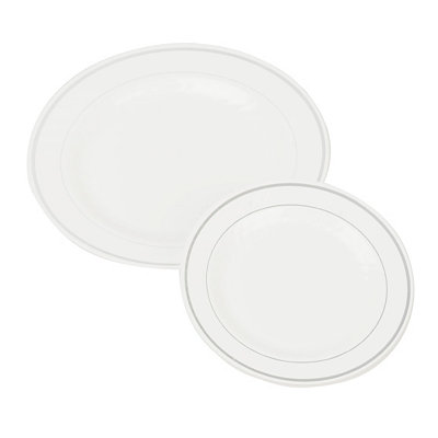 Plastic Masterpiece Plate Set, 40-pc.