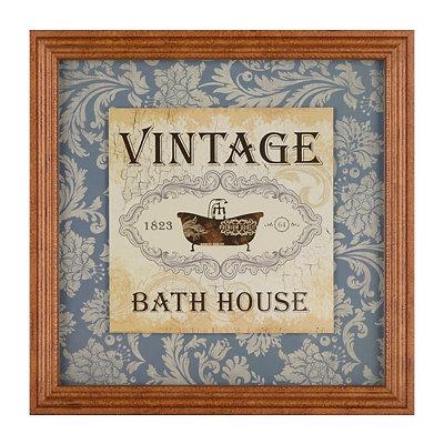 Vintage Bath House Framed Art Print