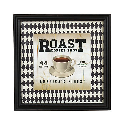 Roast Coffee Shop Framed Art Print