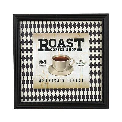 Roast Coffee Shop Framed Art Print