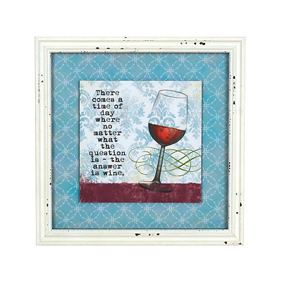 The Answer is Wine Framed Art Print