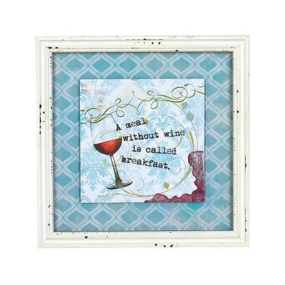 A Meal Without Wine Framed Art Print