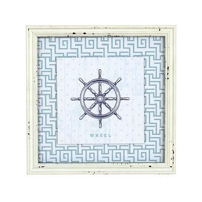 Blue Captain's Wheel Framed Art Print