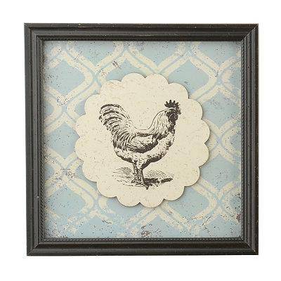 Vintage Rooster Framed Art Print