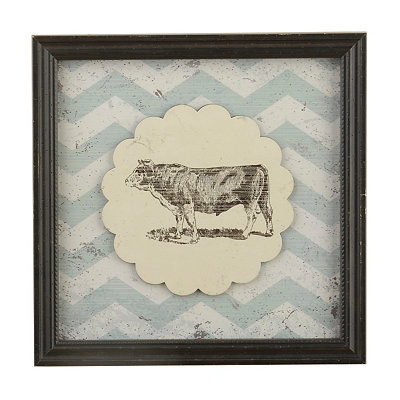 Vintage Cow Framed Art Print