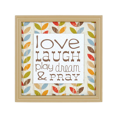 Love & Laugh Framed Art Print