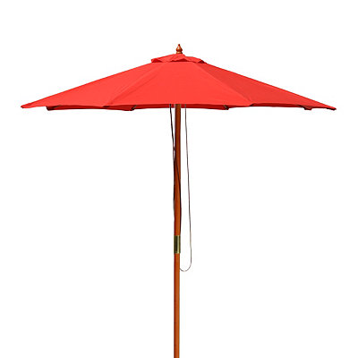 Red Wood Pole Patio Umbrella