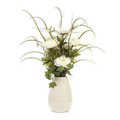Cream Peony Vase Arrangement