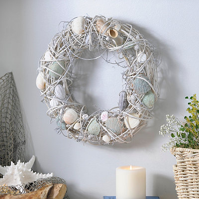 Sea Mist Shell Wreath