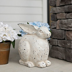 Outdoor White Rabbit Statue