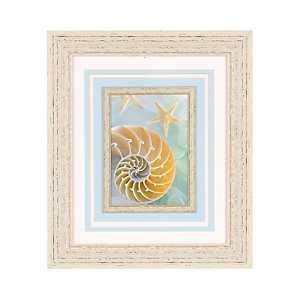 Seaglass Spiral Seashell Framed Art Print
