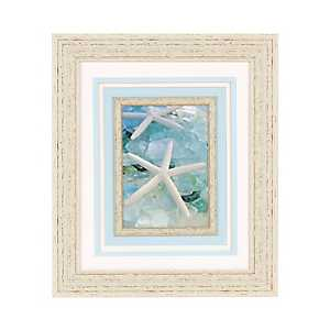 Seaglass White Starfish Framed Art Print