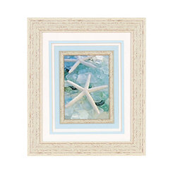 Seaglass White Starfish Framed Art Print