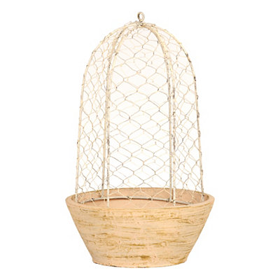 Weathered Wire Planter, 15 In.