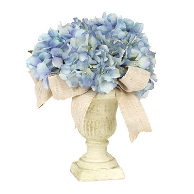 Blue Hydrangea Ribbon Arrangement