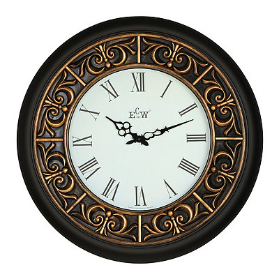 Antique Black Roman Clock