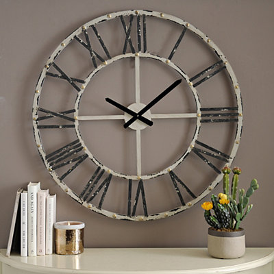 Addison Cream Open Face Clock, 30 in.