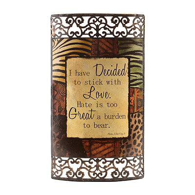 Stick with Love Metal Plaque