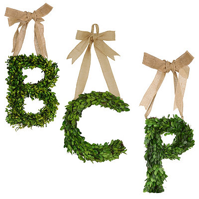 Monogram Boxwood Wreaths