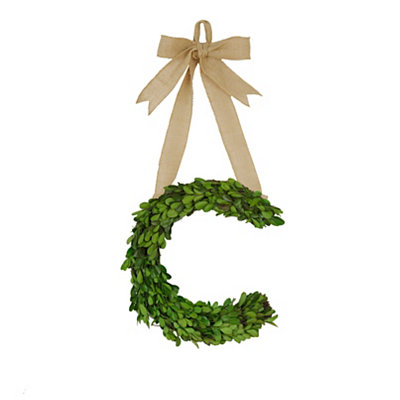 Monogram C Boxwood Wreath
