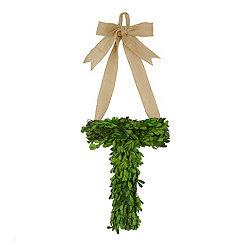 Monogram T Boxwood Wreath