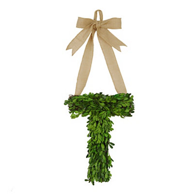 Monogram T Boxwood Wreath