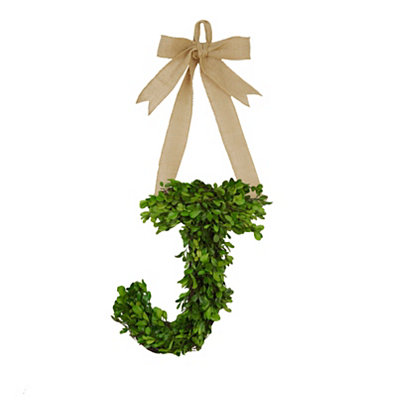 Monogram J Boxwood Wreath