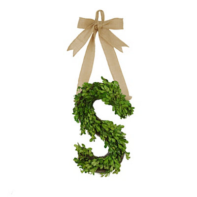 Monogram S Boxwood Wreath