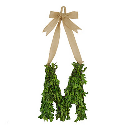 Monogram M Boxwood Wreath