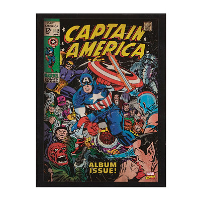Captain America Wooden Plaque