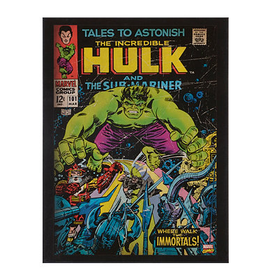 Incredible Hulk & Sub-Mariner Wooden Plaque