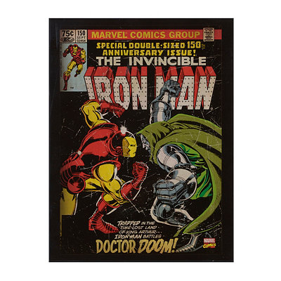 Iron Man & Doctor Doom Wooden Plaque
