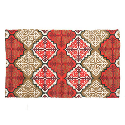 Chatham Red Medallion Scatter Rug